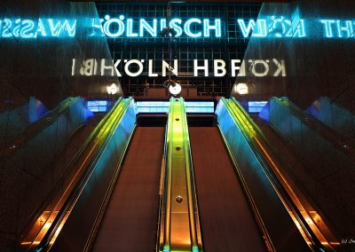 Cologne, central station escalator