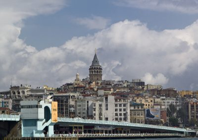 Istanbul, Galata Tower part of the Galata Bridge.
